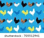 chicken jersey giant blue... | Shutterstock .eps vector #705512941