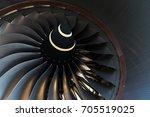 fan blade of commercial... | Shutterstock . vector #705519025