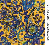 paisley. a pattern based on the ... | Shutterstock .eps vector #705519115