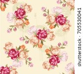 seamless floral pattern with... | Shutterstock .eps vector #705530041