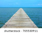 blue sky clear with wooden... | Shutterstock . vector #705530911