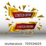 vector illustration of golden... | Shutterstock .eps vector #705534025