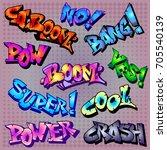 color funny cartoon superhero... | Shutterstock .eps vector #705540139