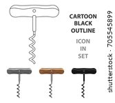corkscrew icon in cartoon style ...