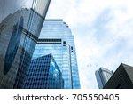 modern office building detail ... | Shutterstock . vector #705550405