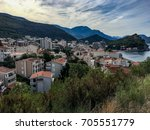 view of the petrovac montenegro ... | Shutterstock . vector #705551779