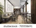 3d Rendering Loft And Luxury...