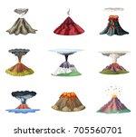 vector illustrations set of... | Shutterstock .eps vector #705560701