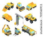 3d transport for construction... | Shutterstock .eps vector #705560911