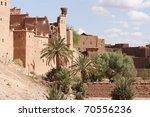 moroccan houses in ouarzazate... | Shutterstock . vector #70556236