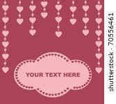 cute hearts background | Shutterstock .eps vector #70556461