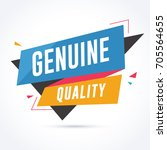 genuine quality banner. sale... | Shutterstock .eps vector #705564655