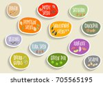 vector set of trendy colorful... | Shutterstock .eps vector #705565195