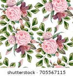 vector realistic hand drawn... | Shutterstock .eps vector #705567115