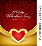 heart on silk with light... | Shutterstock .eps vector #70557127