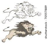 lion | Shutterstock .eps vector #70557889