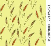 vector seamless pattern with... | Shutterstock .eps vector #705591475