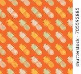 seamless pineapple pattern. | Shutterstock .eps vector #705592885