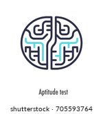 aptitude test thin line icon.... | Shutterstock .eps vector #705593764