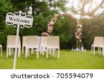 wedding ceremony placed in the... | Shutterstock . vector #705594079