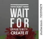 quote on life. best... | Shutterstock . vector #705595879