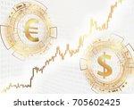 euro and dollar symbols. modern ...   Shutterstock .eps vector #705602425
