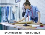 professional designer in... | Shutterstock . vector #705604825