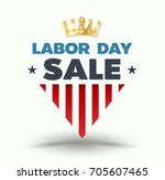 labor day sale banner with gold ... | Shutterstock .eps vector #705607465
