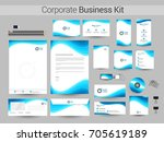 corporate identity kit with...   Shutterstock .eps vector #705619189