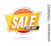 Sticker, tag or label design with 3D text Sale. | Shutterstock vector #705626815