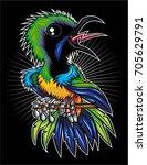 leaf birds | Shutterstock .eps vector #705629791