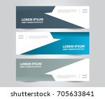 set of  vector design banner... | Shutterstock .eps vector #705633841