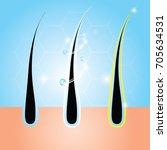 hair care serum vector... | Shutterstock .eps vector #705634531