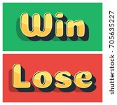 win and lose banner design for...