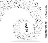 music notes background | Shutterstock .eps vector #70563736