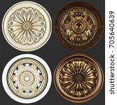 3d rendering stucco molding ...   Shutterstock . vector #705640639