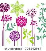 summer flower bed   Shutterstock .eps vector #705642967