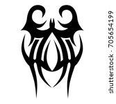 tattoo tribal vector design.... | Shutterstock .eps vector #705654199