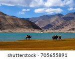 karakul lake  china | Shutterstock . vector #705655891