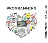 programming concept... | Shutterstock . vector #705661201