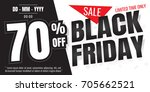 black friday sale banner.... | Shutterstock .eps vector #705662521