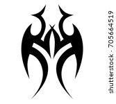 tribal tattoo art designs.... | Shutterstock .eps vector #705664519