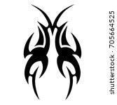 tattoo tribal vector design.... | Shutterstock .eps vector #705664525