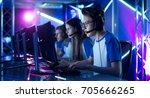 Team Of Teenage Gamers Play In...