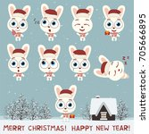 merry christmas and happy new...   Shutterstock .eps vector #705666895