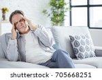 senior man with headache | Shutterstock . vector #705668251