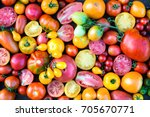 colorful tomatoes background.... | Shutterstock . vector #705670771