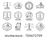 Law Office Logotypes Set With...