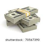 3d money isolated on white... | Shutterstock . vector #70567390
