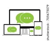 chat green message...   Shutterstock .eps vector #705675079